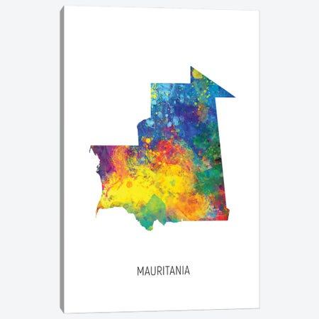 Mauritania Map Canvas Print #MTO3058} by Michael Tompsett Canvas Wall Art