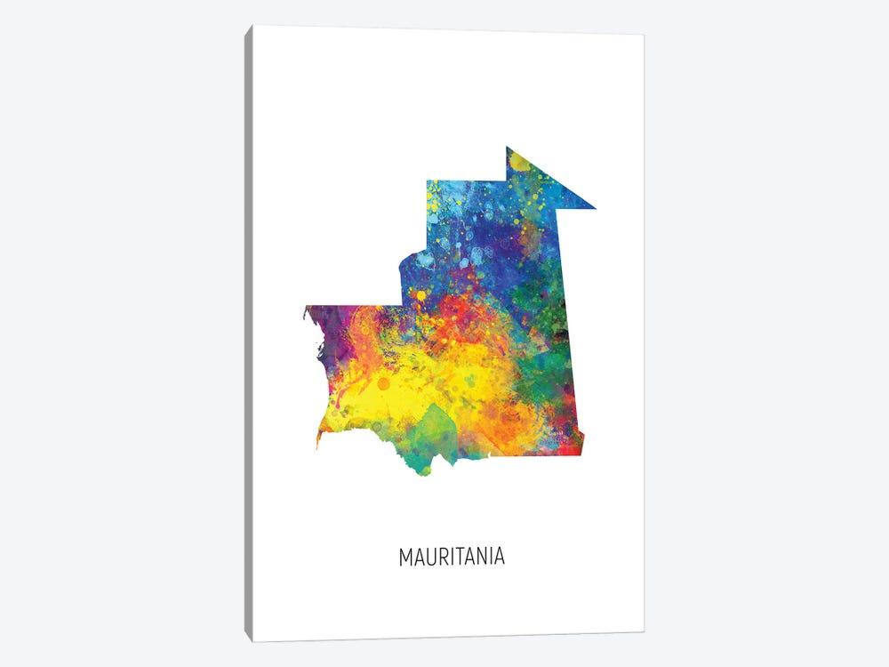 Mauritania Map by Michael Tompsett 1-piece Canvas Artwork