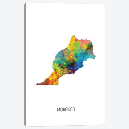 Morocco Map Canvas Print #MTO3063} by Michael Tompsett Canvas Print