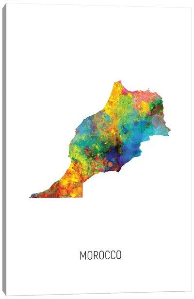 Morocco Map Canvas Art Print