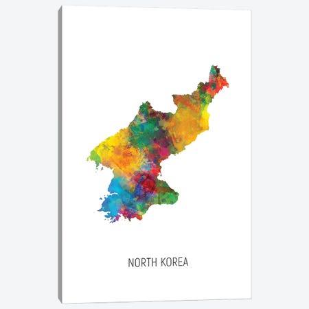 North Korea Map Canvas Print #MTO3065} by Michael Tompsett Canvas Wall Art