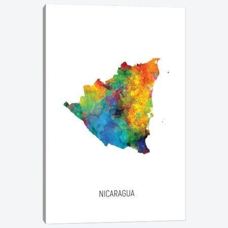 Nicaragua Map Canvas Print #MTO3067} by Michael Tompsett Canvas Art