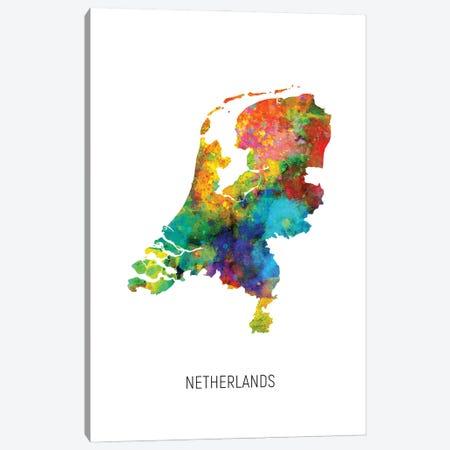 Netherlands Map Canvas Print #MTO3068} by Michael Tompsett Canvas Art Print