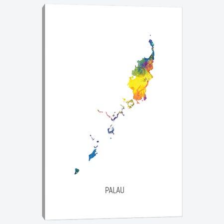 Palau Map Canvas Print #MTO3071} by Michael Tompsett Canvas Wall Art