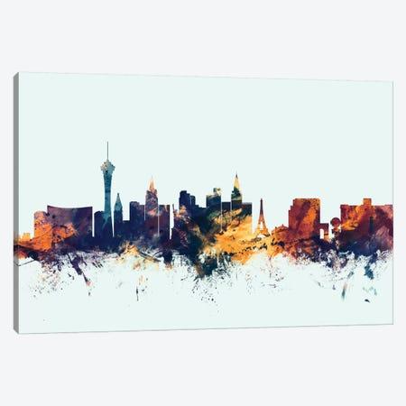 Las Vegas, Nevada, USA On Blue Canvas Print #MTO307} by Michael Tompsett Art Print