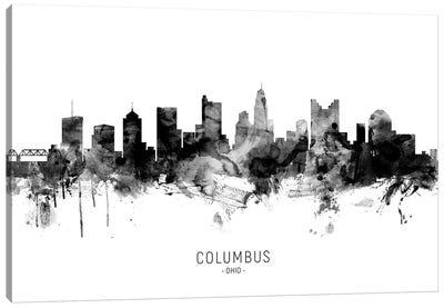 Columbus Ohio Skyline Name Bw Canvas Art Print