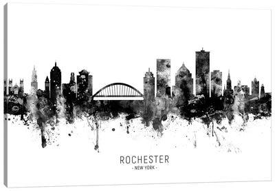 Rochester New York Skyline Name Bw Canvas Art Print