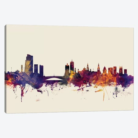 Leeds, England, United Kingdom On Beige Canvas Print #MTO308} by Michael Tompsett Canvas Art