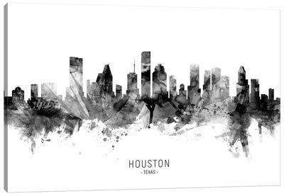 Houston Texas Skyline Name Bw Canvas Art Print