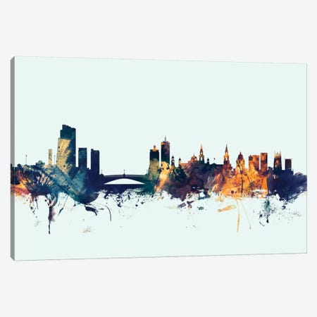 Leeds, England, United Kingdom On Blue Canvas Print #MTO309} by Michael Tompsett Canvas Art