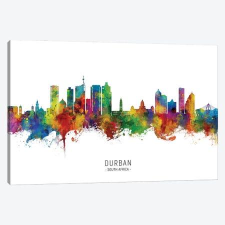Durban South Africa Skyline City Name Canvas Print #MTO3112} by Michael Tompsett Art Print