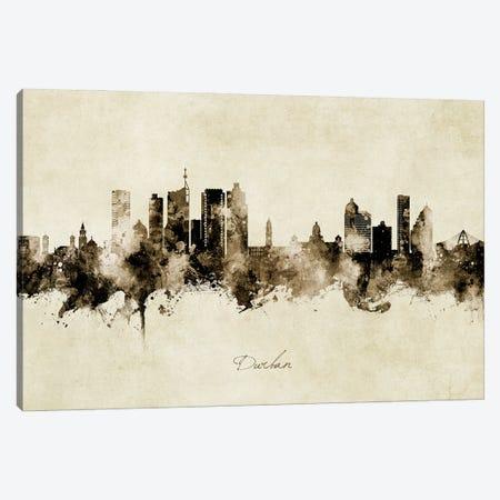 Durban South Africa Skyline Vintage Canvas Print #MTO3114} by Michael Tompsett Canvas Art