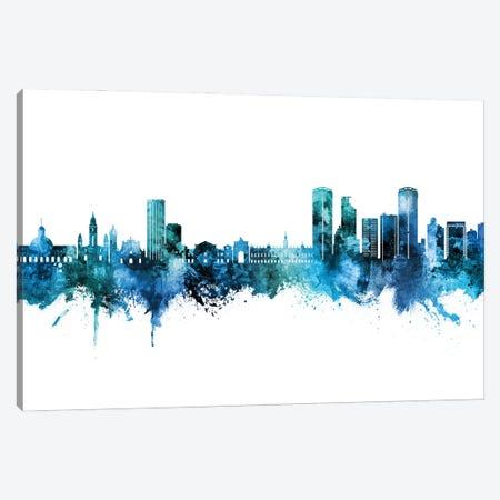Caracas Venezuela Skyline Blue Teal Canvas Print #MTO3121} by Michael Tompsett Canvas Artwork