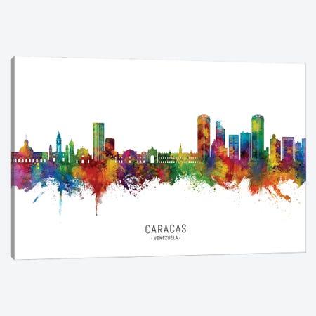 Caracas Venezuela Skyline City Name Canvas Print #MTO3122} by Michael Tompsett Canvas Artwork