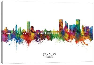Caracas Venezuela Skyline City Name Canvas Art Print