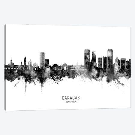Caracas Venezuela Skyline Name Bw Canvas Print #MTO3123} by Michael Tompsett Canvas Artwork