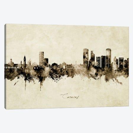 Caracas Venezuela Skyline Vintage Canvas Print #MTO3124} by Michael Tompsett Art Print