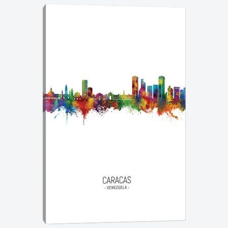 Caracas Venezuela Skyline Portrait Canvas Print #MTO3125} by Michael Tompsett Canvas Art Print