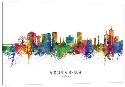 Virginia Beach Skyline City Name Canvas Art Print