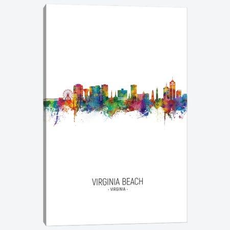 Virginia Beach Virginia Skyline Portrait Canvas Print #MTO3130} by Michael Tompsett Canvas Art Print