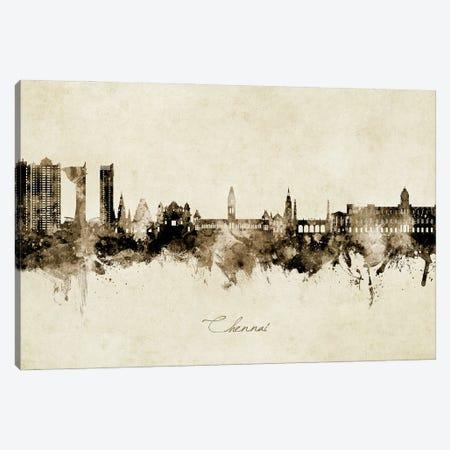 Chennai India Skyline Vintage Canvas Print #MTO3144} by Michael Tompsett Canvas Print