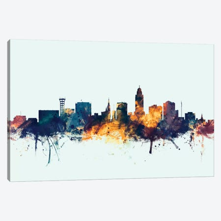 Lincoln, Nebraska, USA On Blue Canvas Print #MTO315} by Michael Tompsett Canvas Art