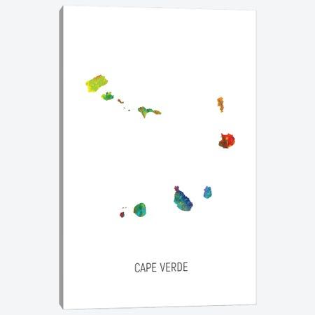 Cape Verde Map Canvas Print #MTO3190} by Michael Tompsett Art Print
