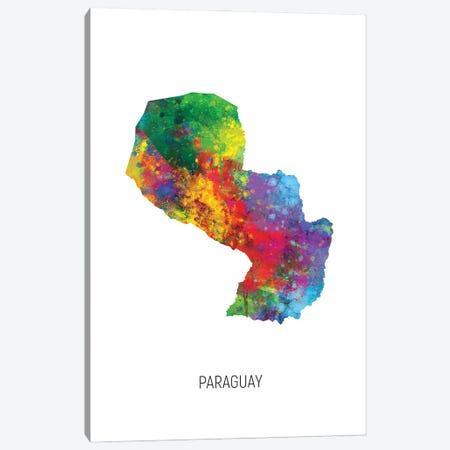 Paraguay Map Canvas Print #MTO3192} by Michael Tompsett Canvas Art Print