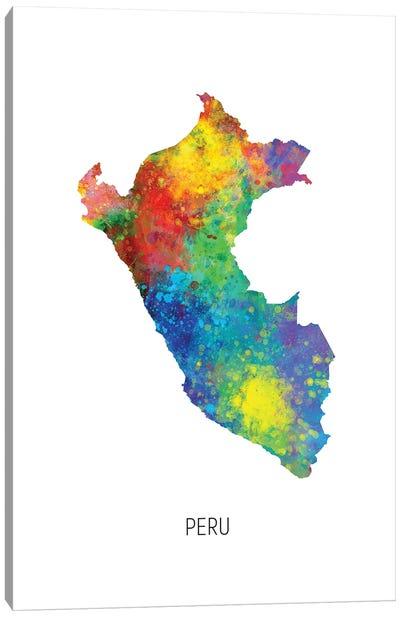 Peru Map Canvas Art Print