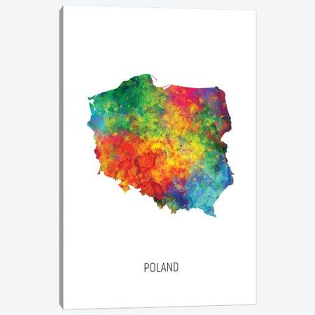 Poland Map Canvas Print #MTO3194} by Michael Tompsett Canvas Art