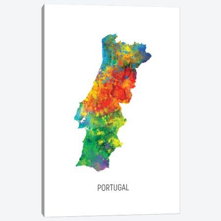 Portugal Map Canvas Print #MTO3195} by Michael Tompsett Canvas Art