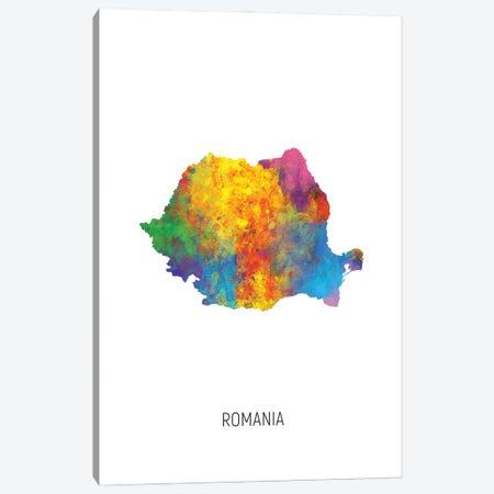 Romania Map Canvas Print #MTO3198} by Michael Tompsett Canvas Print