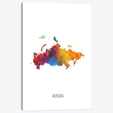 Russia Map Canvas Print #MTO3199} by Michael Tompsett Canvas Print