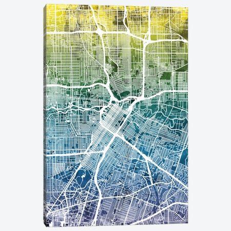 Houston, Texas, USA Canvas Print #MTO31} by Michael Tompsett Canvas Art