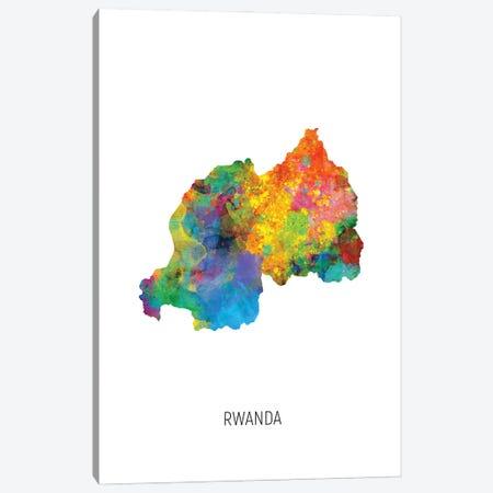 Rwanda Map Canvas Print #MTO3200} by Michael Tompsett Art Print