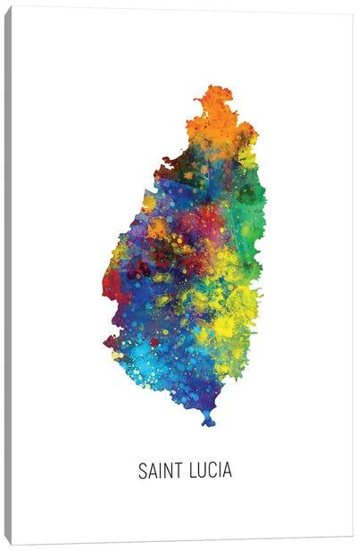 Saint Lucia Map Canvas Art Print