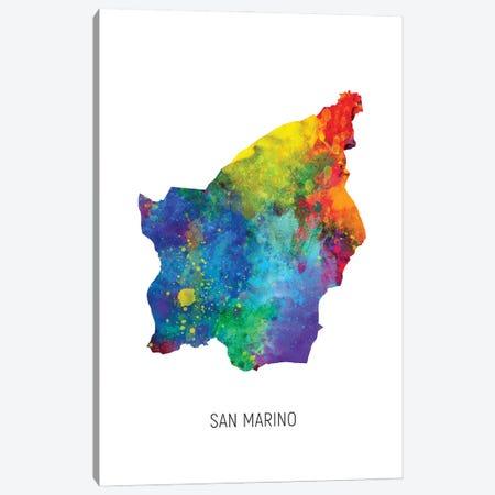 San Marino Map Canvas Print #MTO3205} by Michael Tompsett Canvas Wall Art