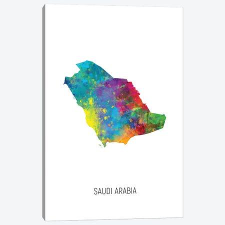 Saudi Arabia Map Canvas Print #MTO3206} by Michael Tompsett Canvas Art