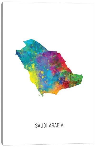 Saudi Arabia Map Canvas Art Print