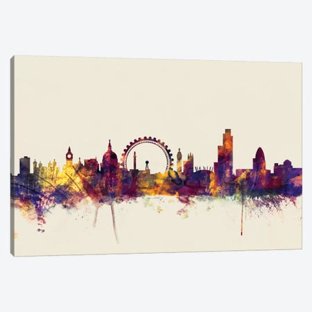 London, England, United Kingdom II On Beige Canvas Print #MTO320} by Michael Tompsett Canvas Artwork