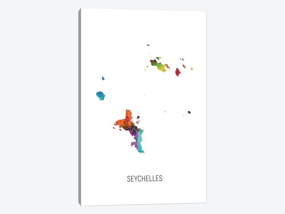 Seychelles Map by Michael Tompsett 1-piece Art Print