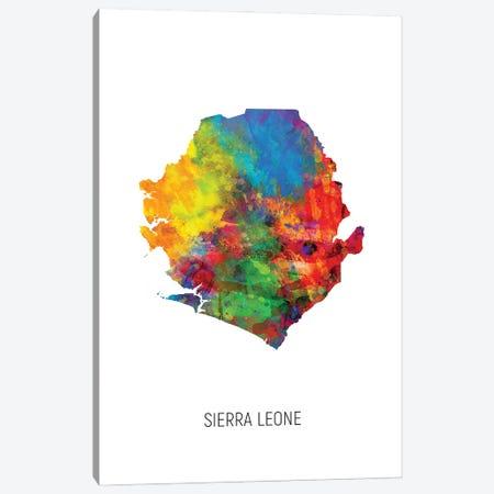 Sierra Leone Map Canvas Print #MTO3211} by Michael Tompsett Canvas Wall Art