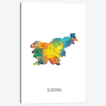 Slovenia Map Canvas Print #MTO3213} by Michael Tompsett Canvas Artwork
