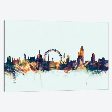 London, England, United Kingdom II On Blue Canvas Print #MTO321} by Michael Tompsett Canvas Wall Art