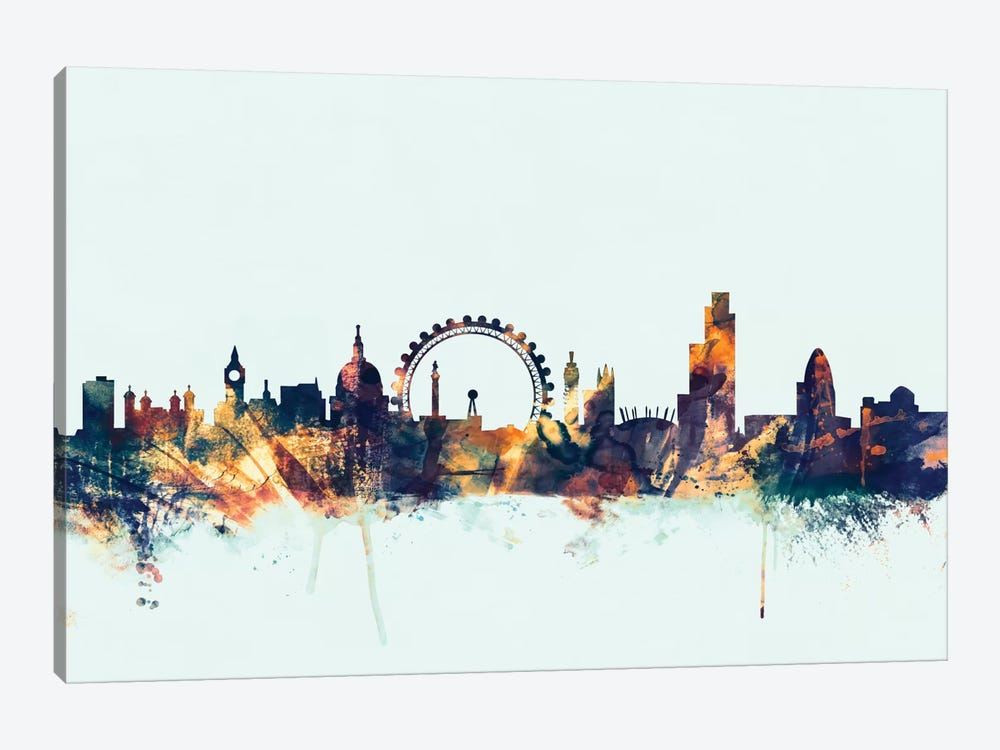 London, England, United Kingdom II On Blue by Michael Tompsett 1-piece Canvas Wall Art