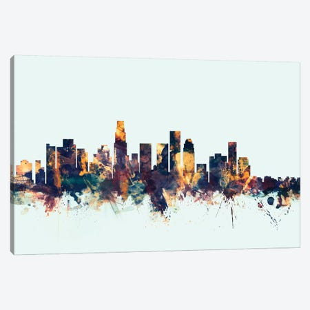 Los Angeles, California, USA On Blue Canvas Print #MTO323} by Michael Tompsett Canvas Wall Art