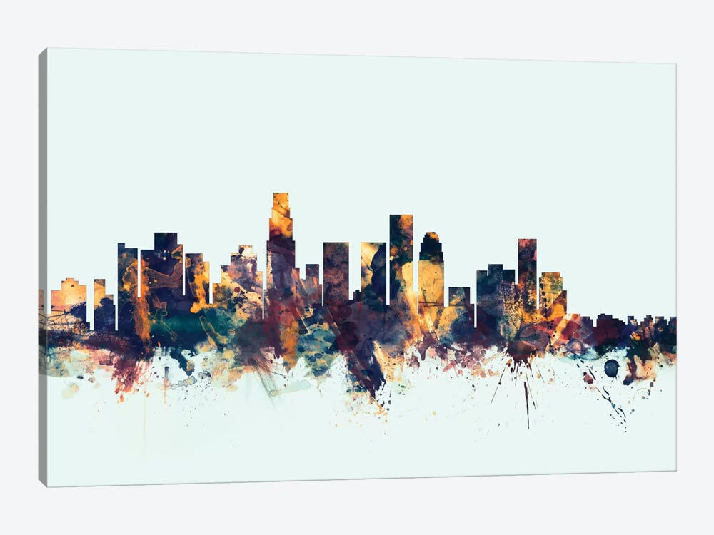 Los Angeles, California, USA On Blue 1-piece Canvas Art