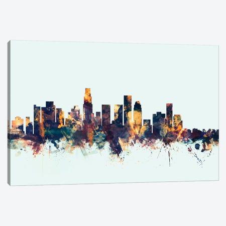 Los Angeles, California, USA On Blue Canvas Print #MTO323} by Michael Tompsett Canvas Wall Art