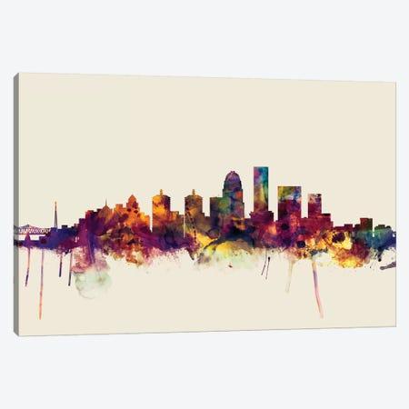 Louisville, Kentucky, USA On Beige Canvas Print #MTO324} by Michael Tompsett Canvas Art Print