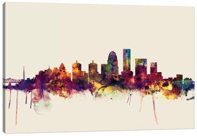 Louisville, Kentucky, USA On Beige Canvas Art Print